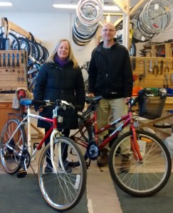 Cycle Transitions donates bicycles to Womens Shelter